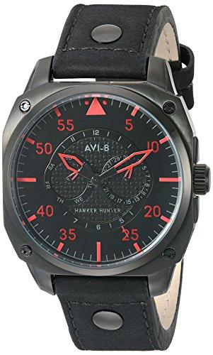 AVI-8 Men's AV-4009-03 Hawker Hunter Analog Japanese-Quartz Black Watch
