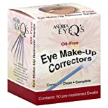 Andrea Eye Q's Eye Make-Up Correctors, Swabs, 50 ct.