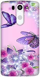 The Racoon Lean Fairies and Butterflies hard plastic printed back case / cover for LG G3 Beat