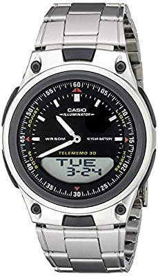 Casio Men's AW80D-1AVCB 10-Year Battery Ana-Digi Bracelet Watch