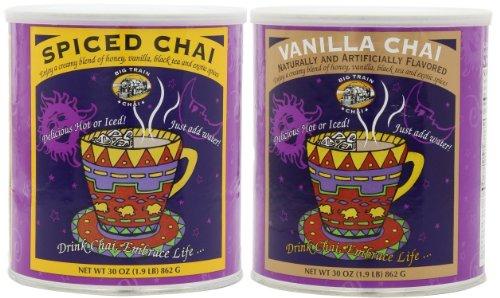 Big Train Spiced Chai And Big Train Vanilla Chai, 1.9-Pound Cans (1 Can Of Each)