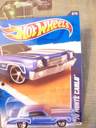 Hot Wheels 2011 Muscle Mania '70 Monte Carlo on Green Lantern Card
