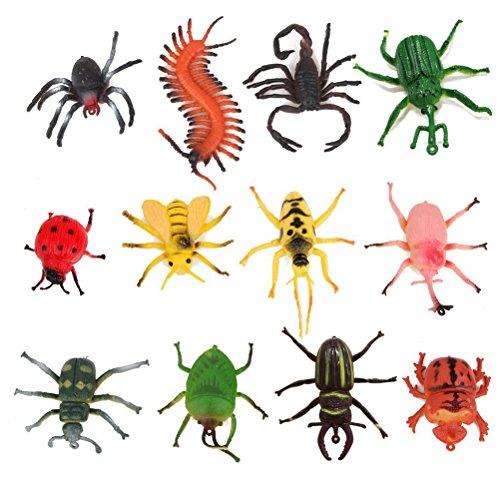 PIXNOR 12pcs Modèle Insectes Enfants Jouets Partie Astuces