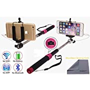Wonbsdom Extendable Cable Control Built-in Remote Self-portrait Stick Monopod-Black[No Bluetooth Matching & Battery Free]with Adjustable Phone Holder for Smartphones iPhone6 5 5s 5c 4s 4 Samsung Galaxy S5 S4 S3 Note4 3 2 Sony HTC,Nokia,etc.(V): Amazon....
