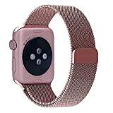 LSoug Apple Watch Band& FF0C 38mm Milanese Loop Stainless Steel Bracelet Strap Replacement Wrist Band for iWatch with Magnet Lock