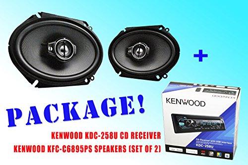 Package ! Kenwood Kdc-258U Cd-Receiver + Kenwood Kfc-C6895Ps Car Speakers