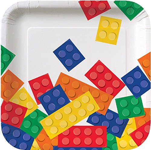 Review Building Block Party Square Dessert Plates