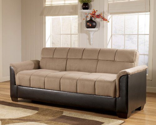 Roxanne Mocha Flip Flop Sofa w/ Storage by Ashley Furniture