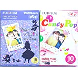 Fujifilm Instax Mini Instant Film 10 Sheets × 2 Packs (Disney Alice in Wonderland & Candy Pop) [Komainu-Dou Original Packege]