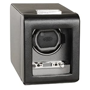 WOLF 456002 Viceroy Single Watch Winder with Cover, Black