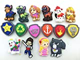 16pcs Paw Patrol (Puppy Power) Ryder Katie Fanfiction Shoe Charms Fits Croc Shoes & Wristband