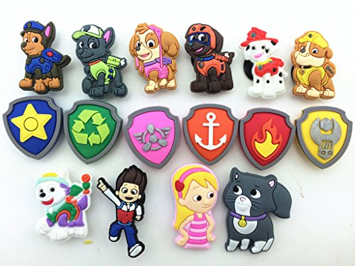 Fantastic Deal! 16pcs Paw Patrol (Puppy Power) Ryder Katie Fanfiction Shoe Charms Fits Croc Shoes & ...