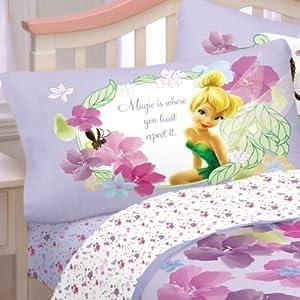 Disney Fairies Bed Sheet Set Flower Magic Art Bedding