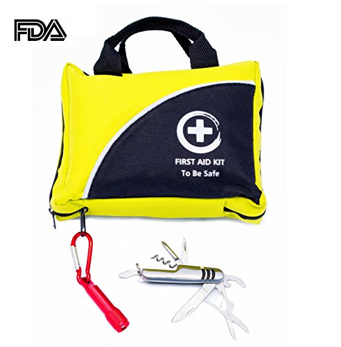 Emergency-Kit-The-Only-One-With-Flashlight-and-Multi-Use-Knife-Ideal-First-Aid-Kits-102-Piece-FDA-Approved-Glow-in-the-Dark-For-Camping-Sport-Outdoor-Car-Home-Travel-Hiking-Safety-Survival