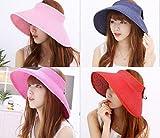 UV 日差し 対策 収納 に 便利 な 折りたたみ 日よけ 帽子 大人 女性 用 レディース つば広 サンバイザー 麦わら 婦人 帽 紫外線 くるくる ふくろう の キーホルダー セット