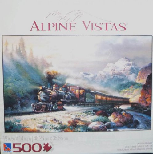 "Alpine Vistas ""Canyon Railway"" 500 Piece Puzzle"