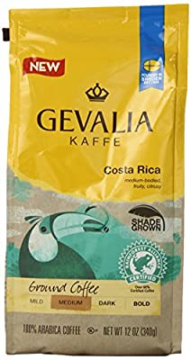 Gevalia Costa Rica Medium Roast Ground Coffee, 12 Ounce by Gevalia