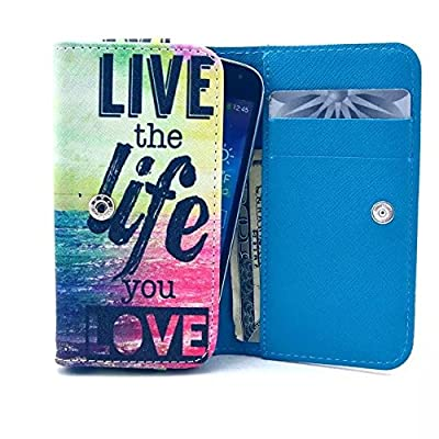 HUAWEI Raven LTE Case,Fashion Live the Life You Love Pattern Universal Smartphone Flip Wallet Clutch Bag Wristlet Carrying Leather Case for Huawei Raven LTE H892L