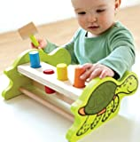 Hape Eco Turtle Peg Pounder Bench