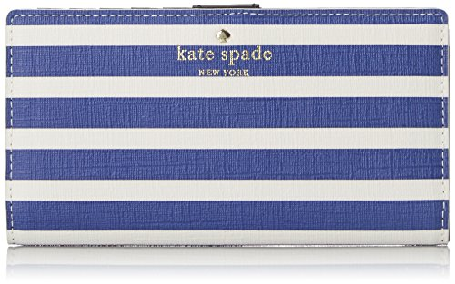 kate spade new york Fairmount Square Stacy Bifold, Hyacinth Blue/Cream, One Size