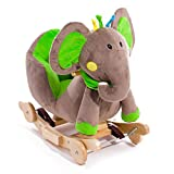 KinderKraft Schaukeltier Wippe Schaukelpferd aus Holz Elefant