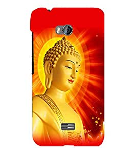 printtech Lord Buddha Back Case Cover for Micromax Bolt Q336