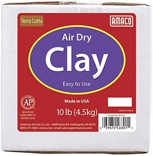amaco-air-dry-modeling-clay-10-pound-terra-cotta
