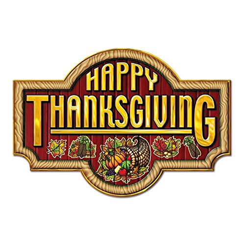 Happy Thanksgiving Sign 2 - 18 inch - 1