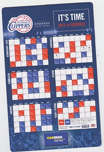 2013-14-los-angeles-clippers-nba-schedule-sked-magnet-chumash-carmax-sga