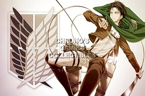 "CGC Poster-Poster grande, motivo: Anime Attack on Titan Shingeki no Kyojin-Levi-AOT021, Carta, 24"" x 36"" (61cm x 91.5cm)"