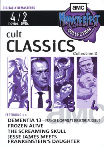 Cult Classics, Collection 2: Dementia 13/Frozen Alive/The Screaming Skull/Jesse James Meets Frankenstein's Daughter (Francis Ford Coppola Collection compare prices)