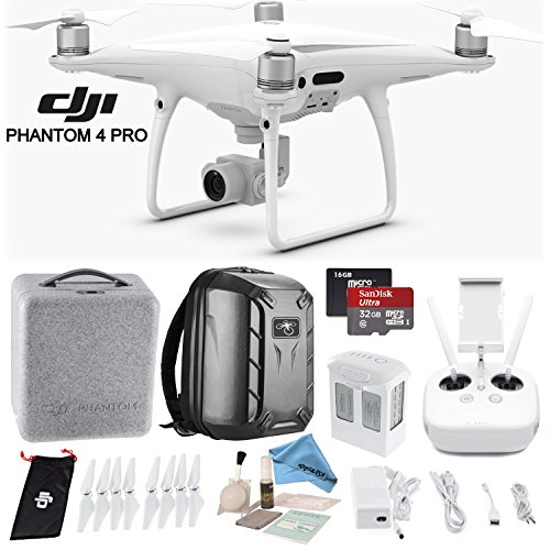 DJI-Phantom-4-Pro-Quadcopter-w-Backpack-Bundle-Includes-Phantom-4-Battery-Shockproof-Backpack-SanDisk-32GB-Ultra-MicroSD-Card-and-more