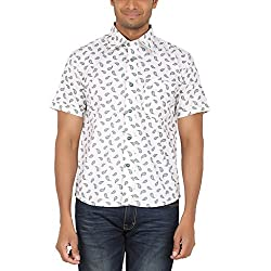 ALLTIMES Men's White Color Shirts