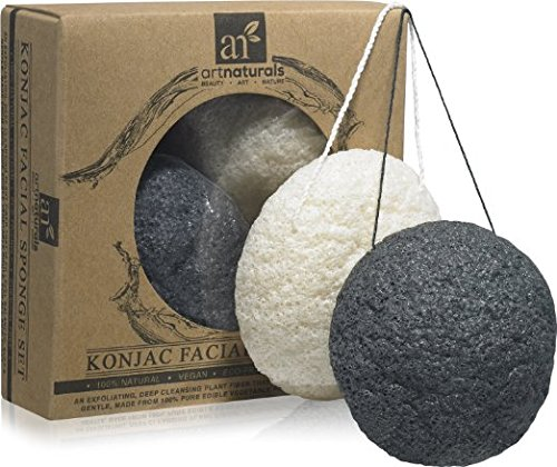 Art Naturals Konjac Facial Sponge Set - 2 Pack