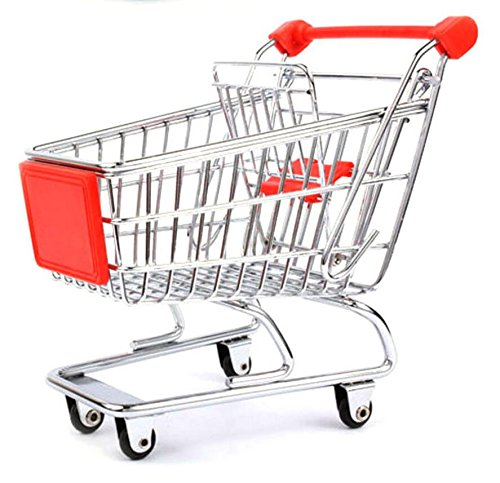 Mini-Children-Supermarket-Shopping-Cart-with-Full-Grocery-Food-Playset-Toy-for-KidsRED