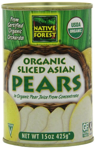 Native Forest Organic Sliced Asian Pears, 15-Ounce Cans (Pack of 6)