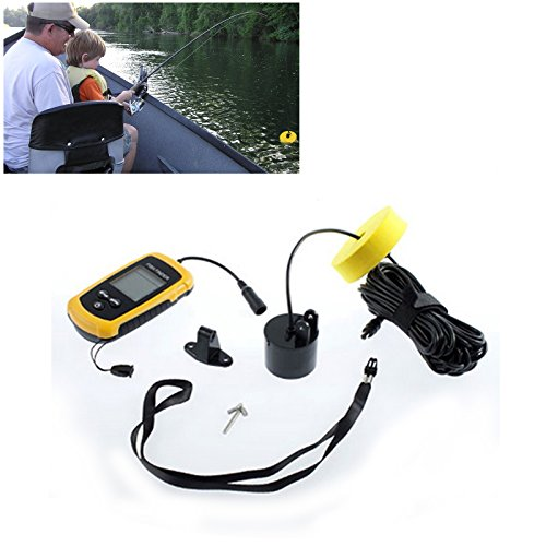 Lemonbest® Portable Wired Fish Finder Round Sonar Sensor Fishfinder With 10m Cable,45 Degree Beam Angle, Removable Float