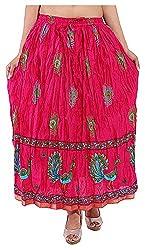 Magnus Women's Long Skirt (SKT478, Pink, L)