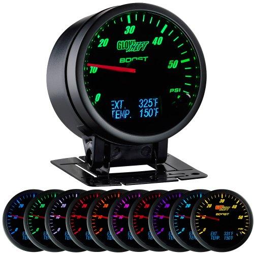 3in1 Black Face Boost, Digital Pyrometer, and Temperature Gauge (Boost Gauge Digital compare prices)