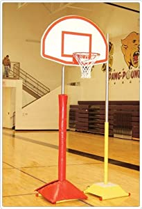 Game Standard Portable Hoop System w Fan backboard (Fiberglass)