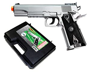 TSD Sports SDGP304SH CO2 Gas Powered Non-Blowback Airsoft Pistol with Case (Silver)