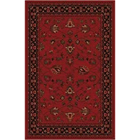 Home Dynamix Monaco Traditional Area Rug Red, 100% Wool