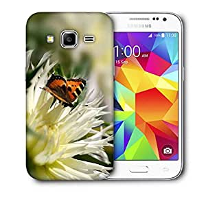 Snoogg Tiger Butterfly Printed Protective Phone Back Case Cover For Samsung Galaxy CORE PRIME