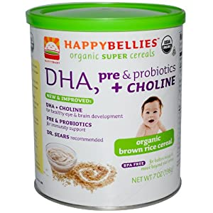 HappyBaby - HappyBellies Organic Brown Rice Cereal - 7 oz.