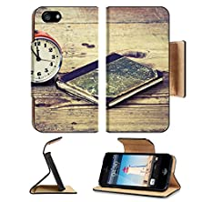 buy Apple Iphone 5 Iphone 5S Flip Case Time To Read Old Alarm And Book On Old Wood Floor Image 20002169 By Msd Customized Premium Deluxe Pu Leather Generation Accessories Hd Wifi Luxury Protector