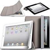 Magnetic Protective Flip Smart Cover Skin Case Stand for iPad 2 in Grey