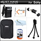 Must Have Accessory Kit For Sony Cyber-Shot DSC-W530, DSC-W690 Digital Camera Includes Extended Replacement (1100 maH) NP-BN1 Battery + Ac/Dc Travel Charger + USB 2.0 Card Reader + Deluxe Case + Mini Tabletop Tripod + Screen Protectors + More ~ ButterflyPhoto