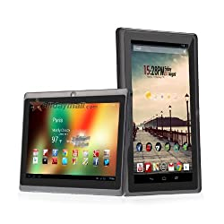 7-inch Capacitive Touch Screen Android 4.0 Tablet PC with Allwinner A13 1.0GHz 512MB/4GB WiFi Front-camera (Black)