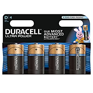 Duracell MX1300 Ultra Power D Size Batteries--Pack of 4