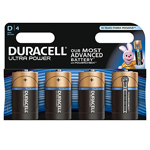 Duracell - Pile Alcaline - Dx4 Ultra Power (LR20)